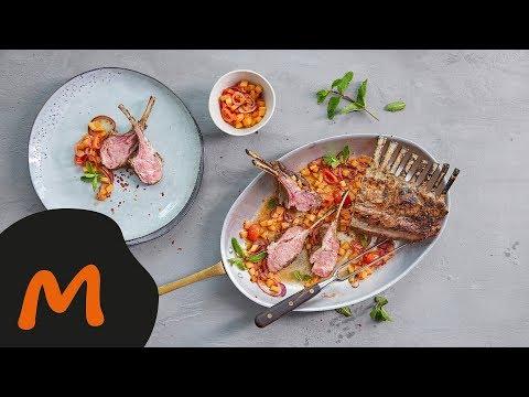 Carré d'agneau avec salsa au melon - Recette Migusto