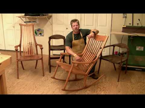 Learn how to Build a Maloof style Rocking Chair - 6 hrs of HD