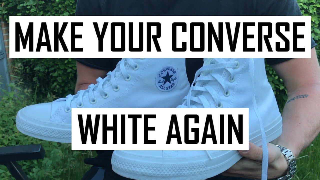 6b25aec6c3c6 How to Clean Your White Converse and any Other Fabric Shoe (D.I.Y WITHOUT  BLEACH)