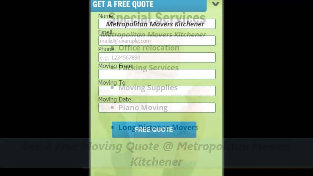 Metropolitan Movers Kitchener Professional Moving Company - YouTube
