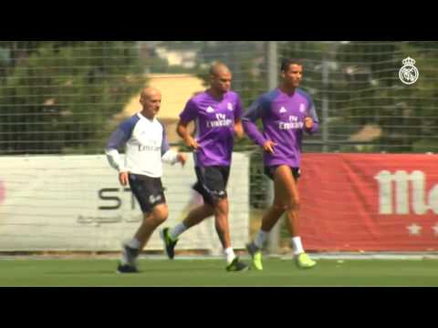 Cristiano Ronaldo and Pepe are back at Ciudad Real Madrid!