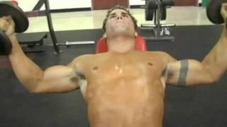 تمارين كمال اجسام لعضلة الصدر-بنش تمرين (تجميع عالى)