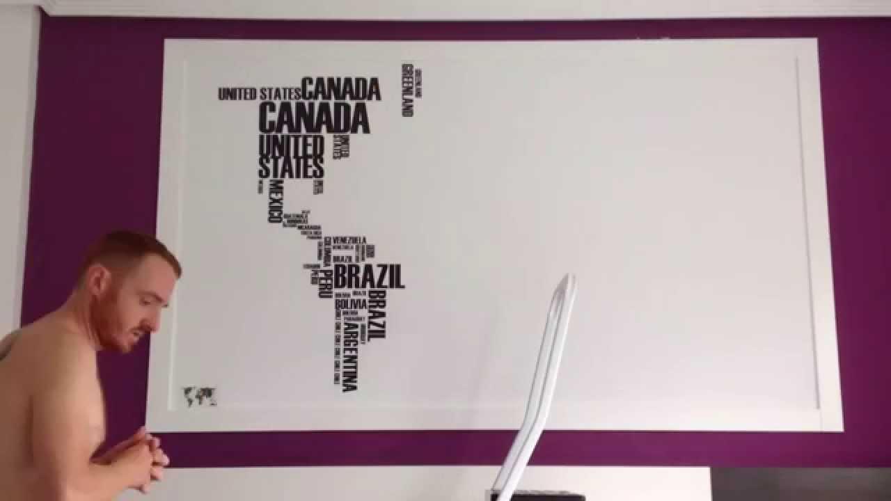 Mural vinilo mapamundi - YouTube