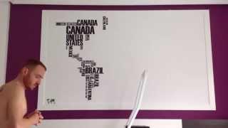 Gambar cover Mural vinilo mapamundi