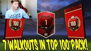 7x KRASSER WALKOUT in TOP 100 FUT CHAMPIONS PACK OPENING 🔥⛔️ - Ultimate Team Deutsch