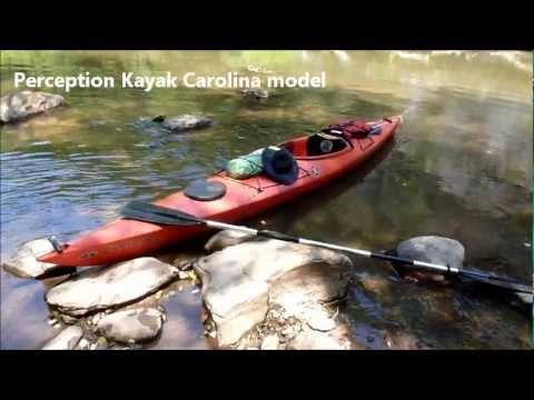 Kayak float down the Dan River, NC