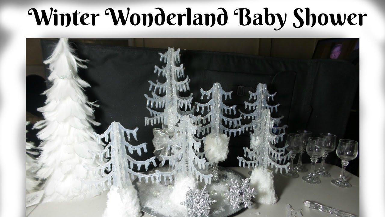 Diy Dollar Tree Centerpieces Winter Wonderland For Baby Shower