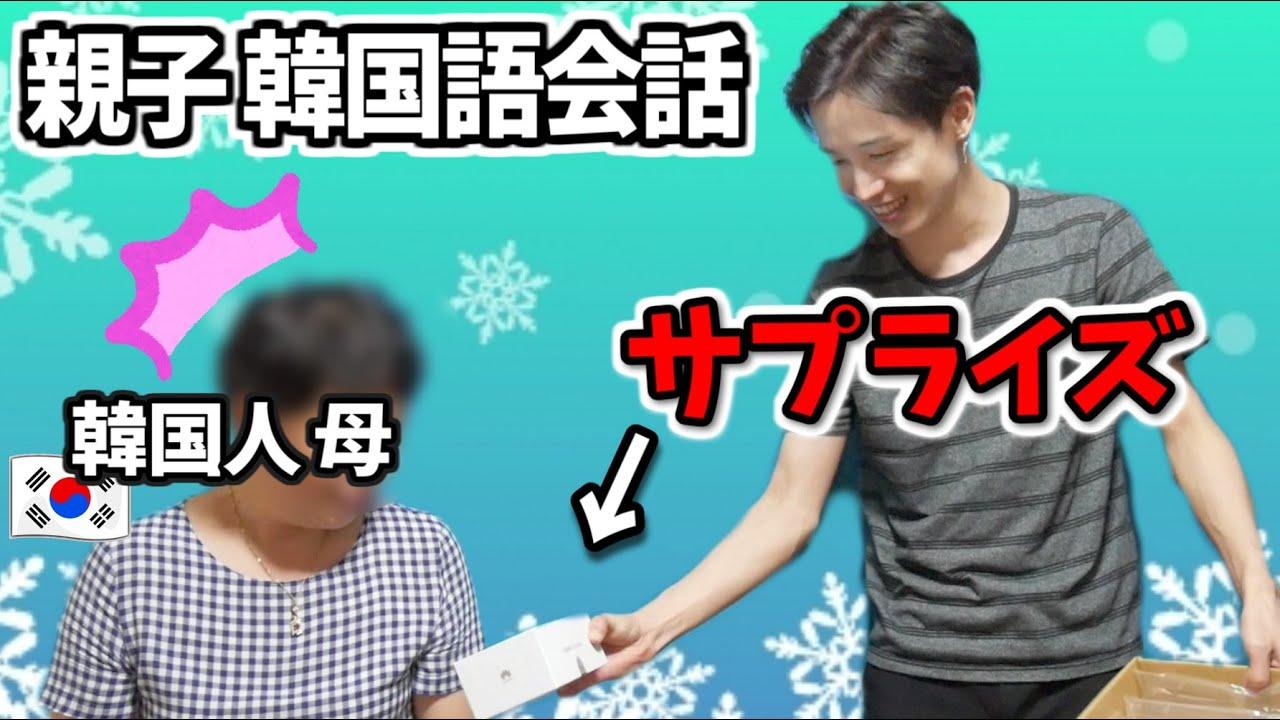 【ほっこり】韓国人オンマに購入品渡しに実家帰った!【韓国語 親子会話】