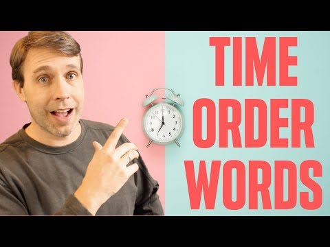 Useful Expressions to Tell a Great Story 💭   Time Order Words