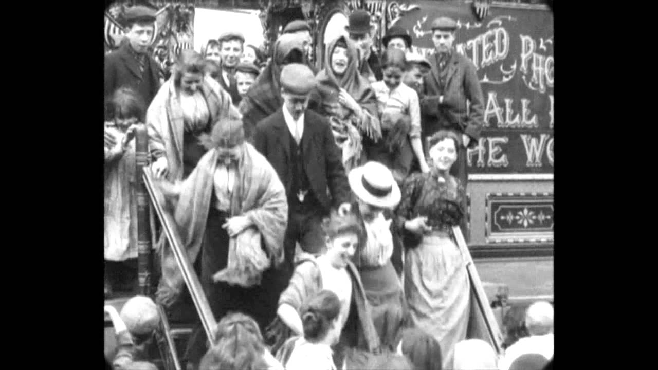Aug 1901 - Film made for Sedgwicks Exhibition, Salford (speed corrected w/ music)
