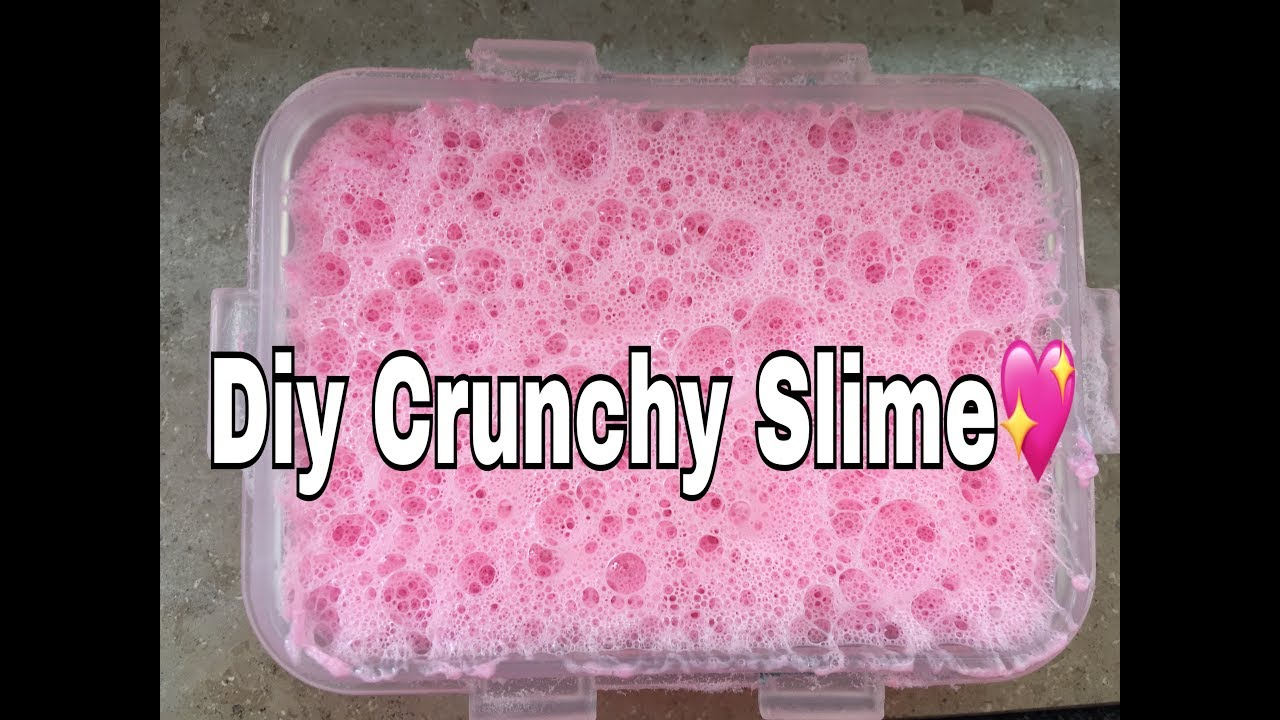 how to make crunchy slime wingie