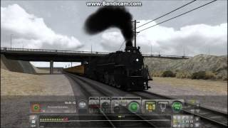 Train Simulator 2013 HD: NKP 765 2-8-4 Berksire Steam Locomotive Struggles Out of Victorville