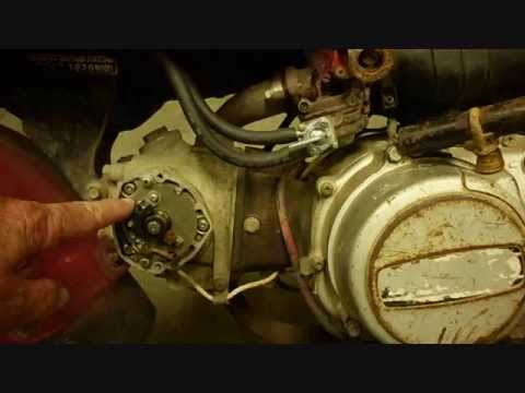 honda atc 110 electrical wiring, part 2 of 2, ignition ... 110 engine timing diagram