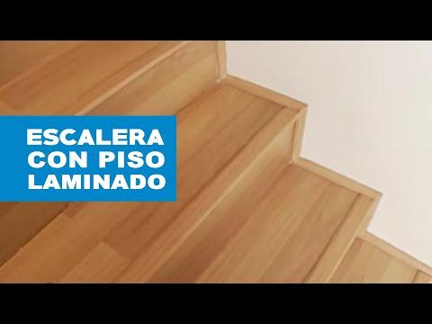 C mo revestir una escalera con piso laminado youtube for Como cubrir una escalera