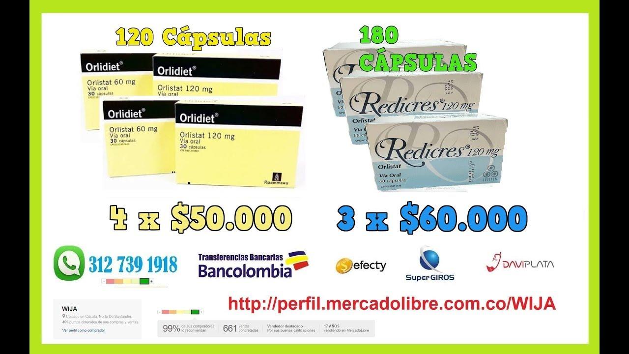 Orlidiet Orlistat 120 Mg Quemador Grasa REDICRES XEROGRAX