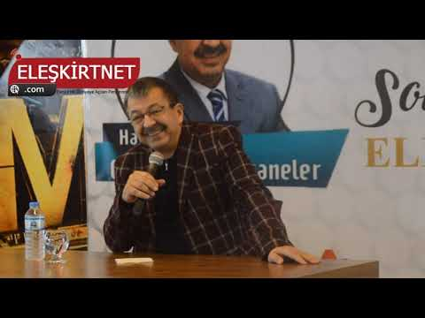 Yazar Hayati İnanç Eleşkirt'te Konferans Verdi