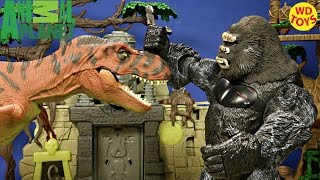 New Animal Planet Giant Cobra Vs King Kong & Red Rex - Jurassic World Unboxing Playset