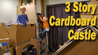 3 Story Cardboard Castle with draw bridge!!!!