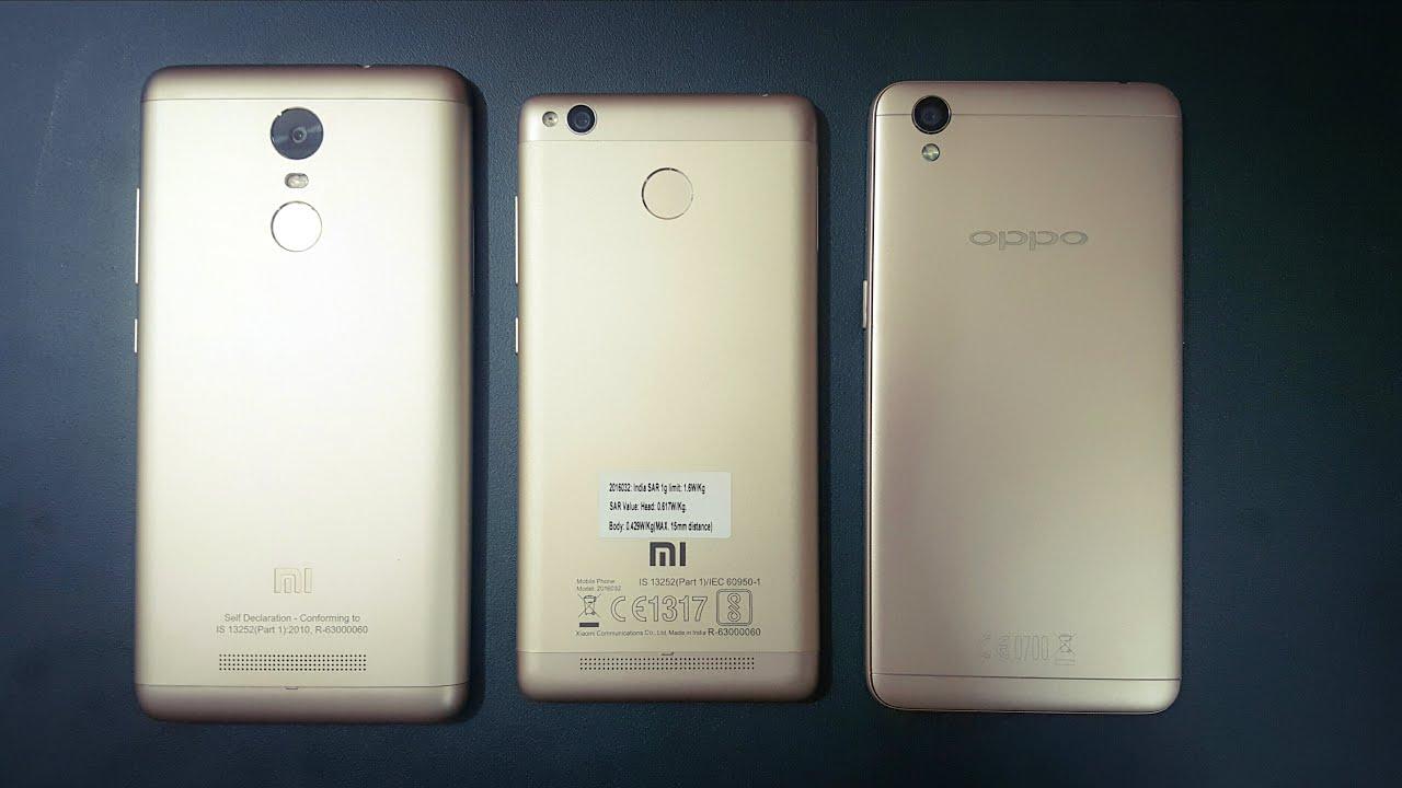 Xiaomi Redmi Note 3 vs Oppo A37 vs Redmi 3s Mega parison