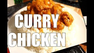 How CURRY CHICKEN Cook How student Cook It AT HOME Sunday Dinner |  Curry Chicken Recipe