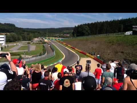 Départ Formule1 Grand Prix Belgium De Spa 2015 tribune 17-27