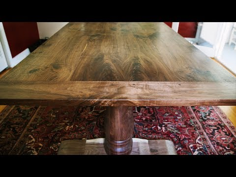 Making A Double Pedestal Dining Table With Breadboard Ends