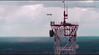 Первый в мире прыжок с парашютом с беспилотника