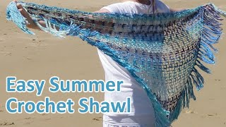 Summer Kit 2018 This tutorial was an exclusive tutorial for my summer 2018 crochet kit for my Sea Breeze Shawl. As I no longer sell kits I thought it would be ...