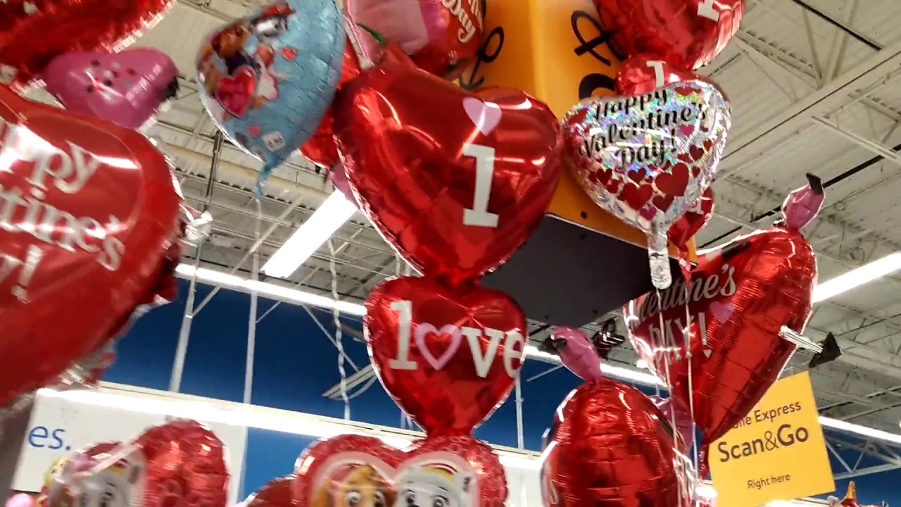 Valentines Day Balloons At Wal Mart 2018 Youtube