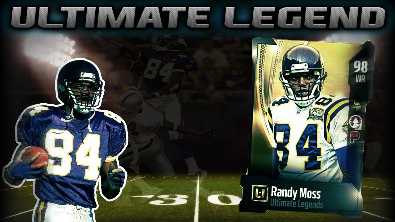 new concept b254c 49dff 98 OVERALL RANDY MOSS IS HERE | MADDEN 18 ULTIMATE LEGEND PACK OPENING