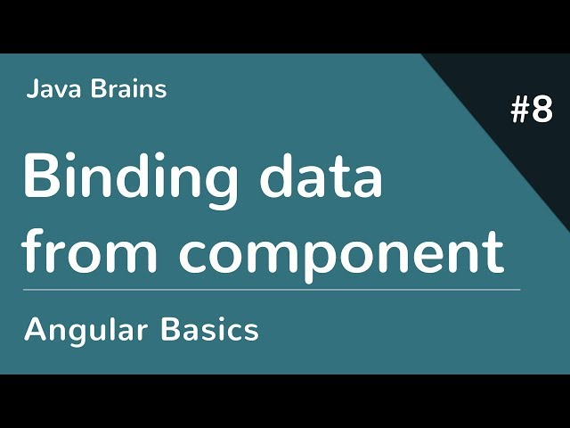 Angular 6 Basics 8 - Binding data from component class
