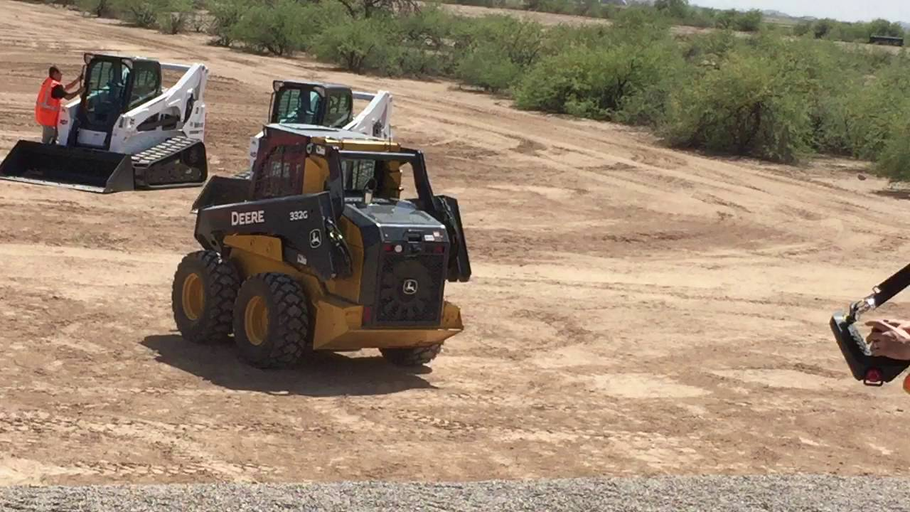 John Deere Skid Steer >> New John Deere 332G Remote Control Skid Steer - YouTube