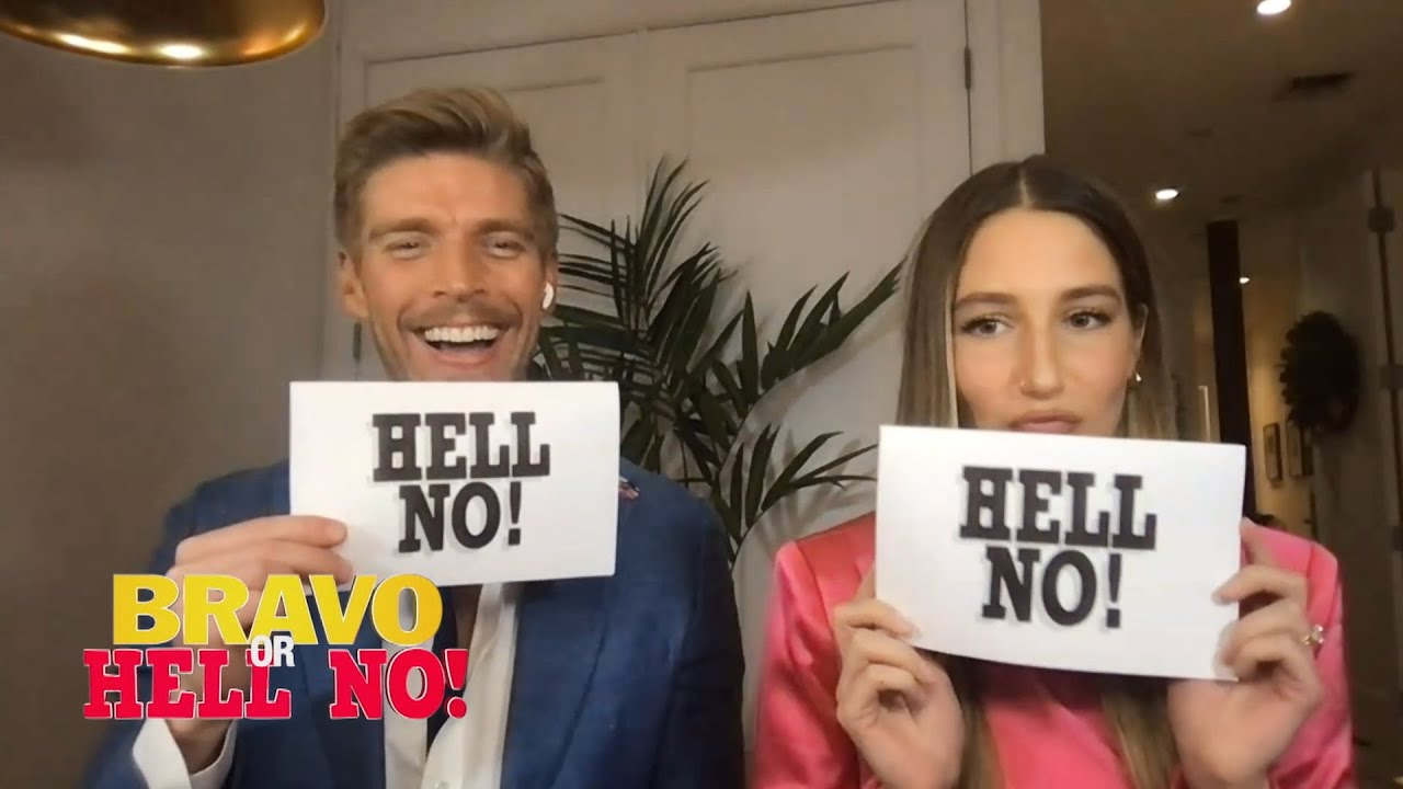 Amanda Batula & Kyle Cooke Play Bravo or Hell No! | WWHL