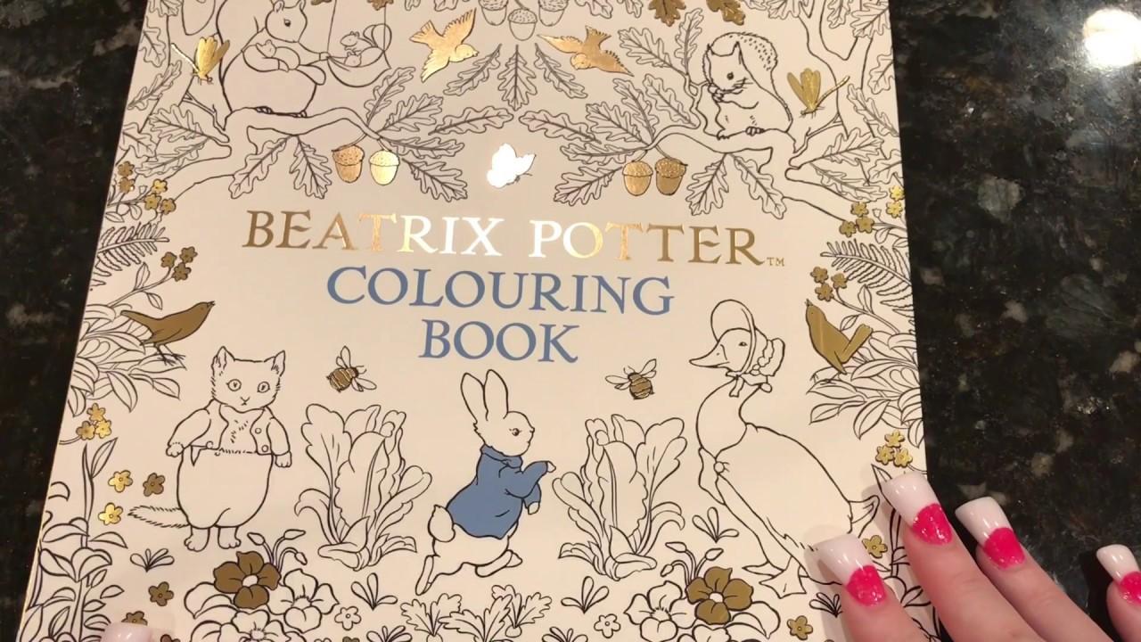 Beatrix Potter Coloring Book | Flip Through - YouTube