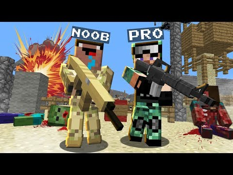 NOOB And PRO Joined The Army! What Happened? NOOB Vs PRO! Challenge In Minecraft 100% Trolling