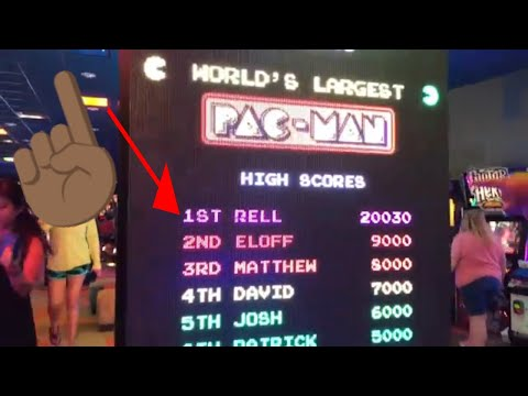 World's Largest Pac-Man High Score Battle For 1st Place
