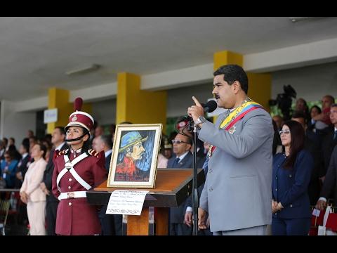 Bicentenario de Ezequiel Zamora: Discurso de Nicolás Maduro iniciando Desfile