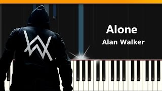 "Download Alan Walker - ""Alone"" Piano Tutorial - Chords - How To Play - Cover Mp3"