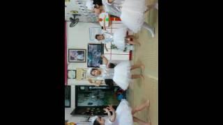 Bài múa vạt áo trong mơ do các bé trường mầm non ban mai biểu diễn.