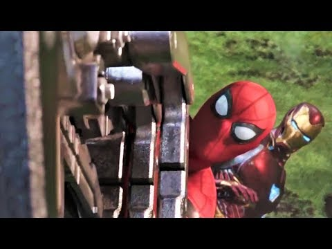 Spiderman And Ironman All Fight Scene (HD) | Avengers Infinity War Movie Scenes | thumbnail
