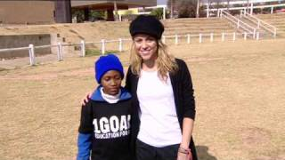 Shakira & Nthabiseng ask you to send a message for 1GOAL