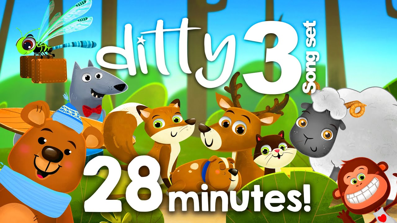DITTY SONG SET 3 – 28 minutes of songs @Ditty - Songs for kids  Animated nursery rhymes for children