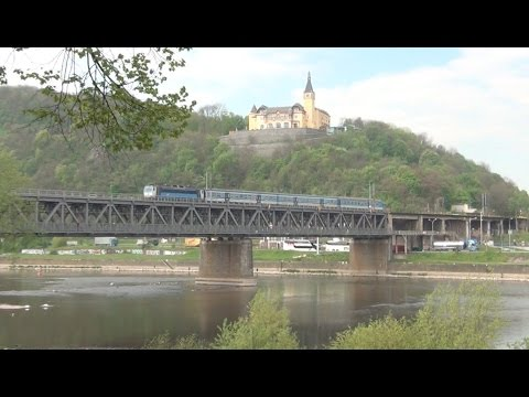 CD Trains on the Elbe - May 2016.