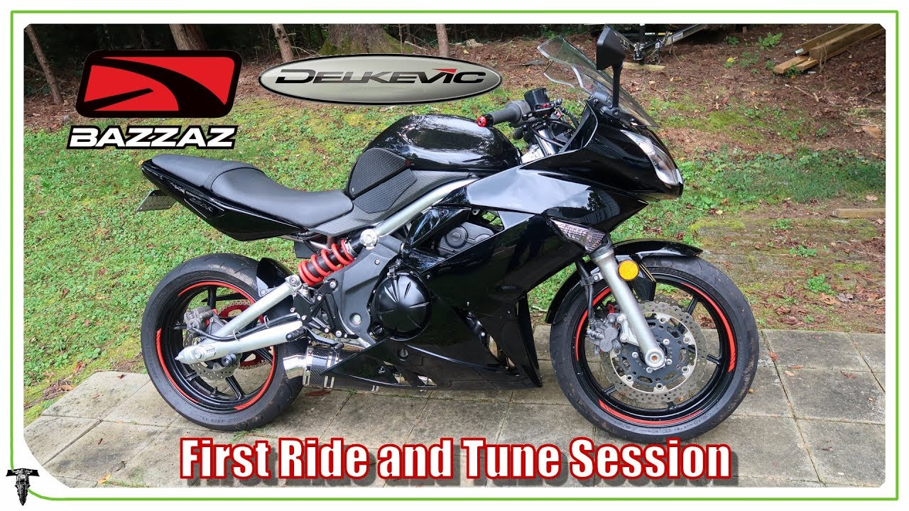 Tuning The Ninja 650 With Delkevic Exhaust Bazzaz Zfi Autotune