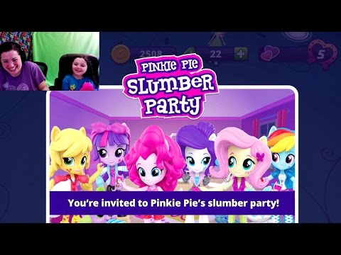 Equestria Girls Friendship Games My Little Pony App Pinkie Pie Slumber Party Mini Games N Codes MLP