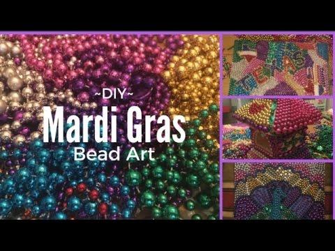 Mardi Gras Bead Art