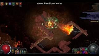 1ex build 15T map PathOfExile pathfinder poison Blade vortex
