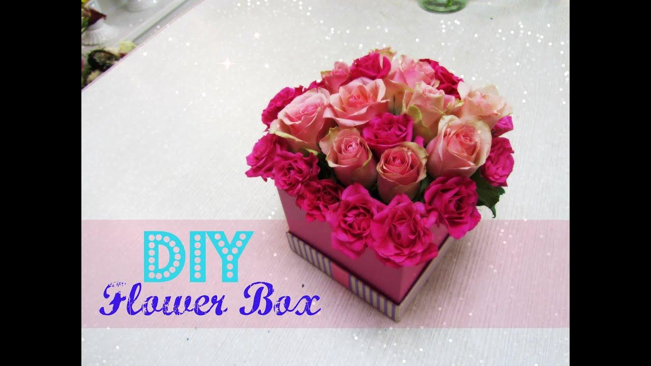 Фото цветы в коробке и коробка