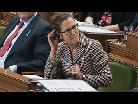 Avoid-Question Period Starring Chrystia Freeland