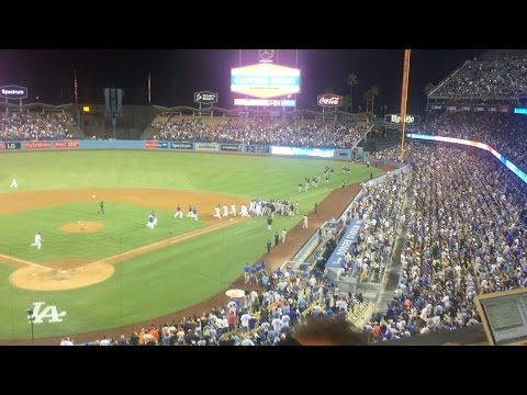 Dodgers, Giants Benches CLEAR, Separate Yasiel Puig, Bumgarner
